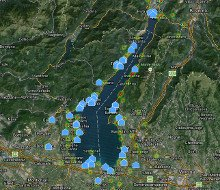 Kartenansicht Gardasee