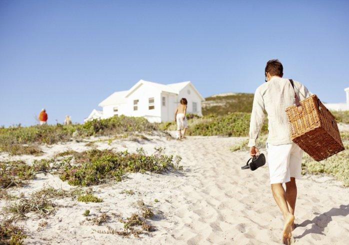 Strandhäuser und Ferienhäuser am Strand