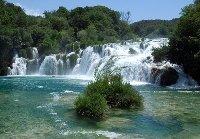 Natural spectacle Krka Waterfalls