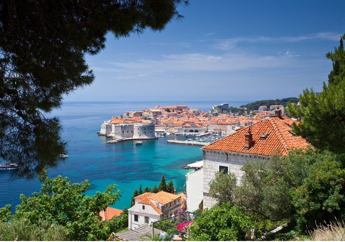 Delightful view over Dubrovnik