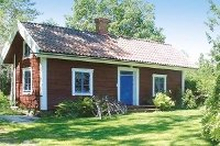 Rood Zweeds huis in de regio Vänern