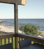 Maison de plage pour six personnes située près de Sandkås.