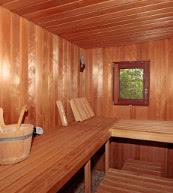 Sauna d'une maison pour quatre personnes située dans le nord de l'Allemagne ayant reçu de très bonnes appréciations.