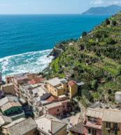 Vue d'un appartement de vacances pour 4 personnes situé à Manarola, l'un des cinq villages des Cinque Terre.