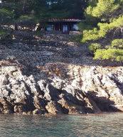 Maison de vacances isolée pour deux personnes située à Hvar.