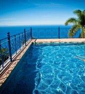 Vue sur l'Atlantique d'une villa avec piscine pour 6 personnes située sur la côte nord de Ténérife.