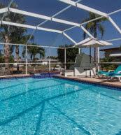 Überdachter Pool einer Ferienvilla für 6 Personen in Cape Coral.
