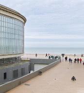 Vue d'un appartement pour six personnes situé à Ostende.