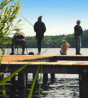 Fishing holiday in Germany. Go fishing directly by the holiday home and the holiday apartment or the fishing lodge.
