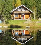 Holiday and fishing in Finland. Access to the lake directly by the holiday home and the holiday apartment.