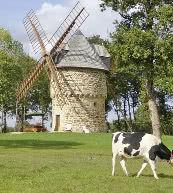 Moulin restauré pour quatre personnes situé en Bretagne.