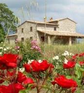Appartement de vacances pour huit personnes situé dans une ferme non loin d'Orvieto.