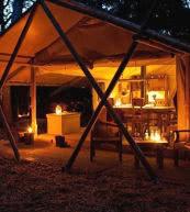 Zelthaus für 6 Personen im Naturgebiet Zwanenwater an der Küste von Holland.
