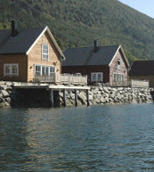 Fishing in Norway. Fishing area directly by the holiday home and the holiday apartment with a filleting area.