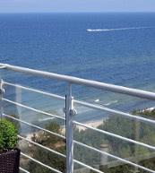 Direkt am Strand von Dziwnowek gelegenes Apartment für bis zu fünf Personen.