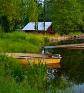 Fishing holiday in Sweden. Go fishing directly by the holiday home and the holiday apartment with a fishing spot.