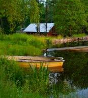 Vacanza di pesca in Svezia. Pescare direttamente dalla vila, dall'appartamento o dalla capanna del pescatore.