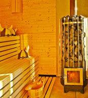 Sauna eines Ferienhauses für fünf Personen in Värmland.