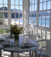 Ausblick auf die Küste von einem Ferienhaus für vier Personen in Gallicien.