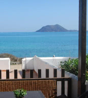 Terrace of a holiday home for four people on Fuerteventura.