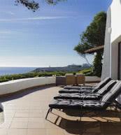 Ausblick von der Terrasse einer Ferienvilla für bis zu acht Personen bei Cala d'Or.